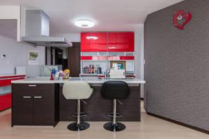 SHARE RESTAURANT  : 赤のキッチン20畳LDKの会場写真