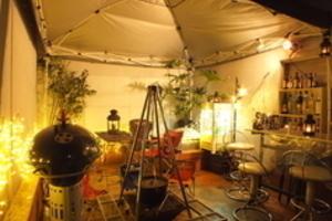 パーティハウス新宿店P : BBQテラス付きパーティルームの会場写真