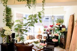 使い方は自由自在! 植物に囲まれたおしゃれなくつろぎスペースです。の写真