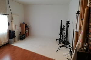本格的な撮影スタジオの写真