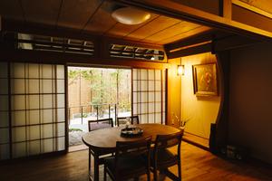 名古屋の街中の、中庭がある和風のコミュニティスペース『千代田ヴィレッジ®︎』の写真