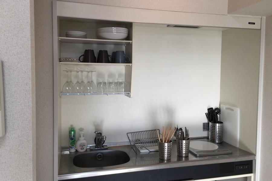 亀有駅徒歩2分、キッチンのある多目的スペース : 会議室・サロンの会場写真