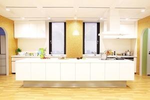 【四ツ谷駅3分】おしゃれなアイランドキッチンの大型スタジオ!設備も大充実♪の写真