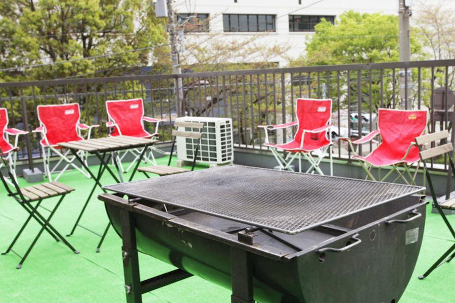 浅草パーティースペース みんなの広場 : 屋上BBQスペースの会場写真