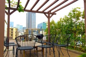 【茅場町】撮影&取材からお茶会に大人気♪自然たっぷり、都内の屋上スペース!の写真